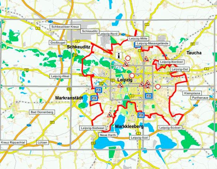Umweltzone Leipzig Karte.Leipziger Umwelt Zone